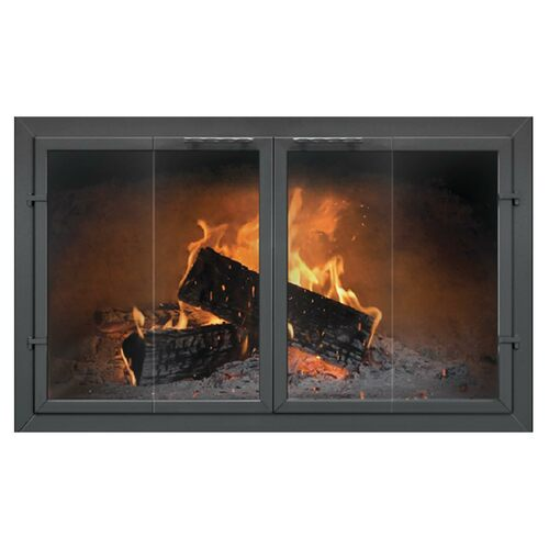 Normandy Bi-Fold Custom Masonry Fireplace Door