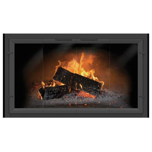 Normandy Clearview Bi-Fold Custom Masonry Fireplace Door