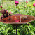 Antiqued Bird Bath with Birds and Stake