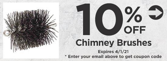 10% Off Chimney Brushes