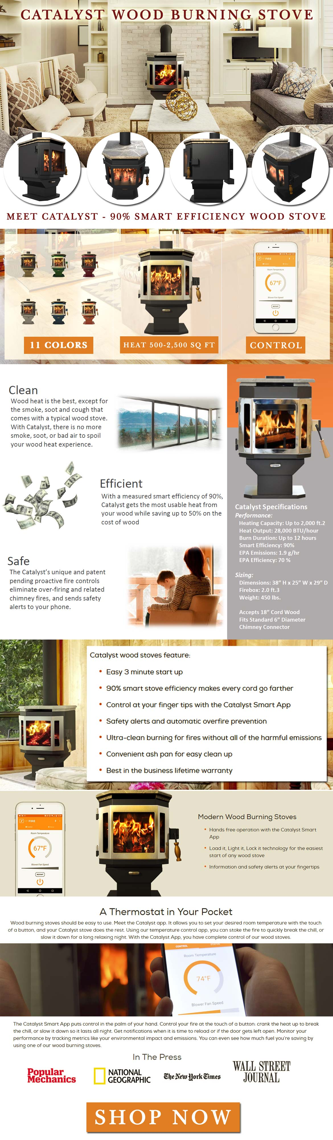 The Catalyst Wood Burning Stove