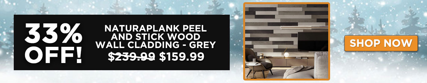 33% Off Natural Plank Peel and Stick Wood Wall Cladding - Grey