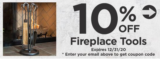 10% off Fireplace Tools