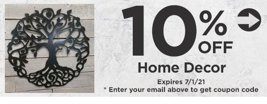 10% Off Home Decor