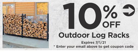10% Off Outdoor Log Racks
