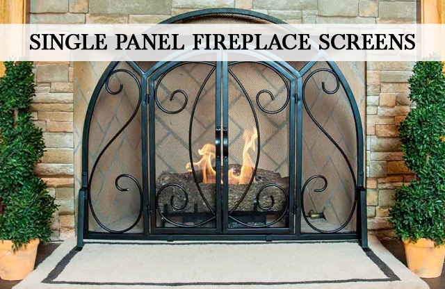 Single Panel Fireplace Screens