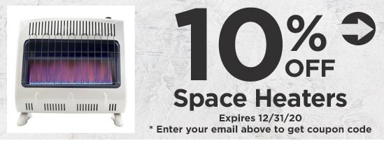 10% Off Space Heaters