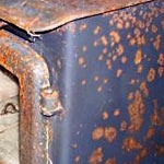 how to remove rust from a stove