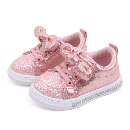 Baby Girl's shoes - Pink with Bow