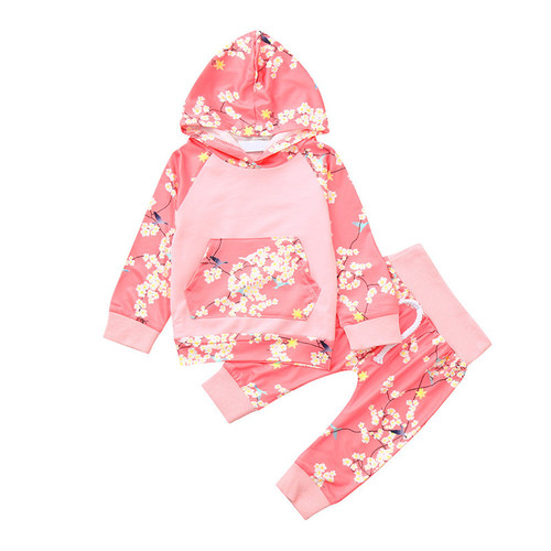 2pc Toddler Girl's Clothing Set - Pink Design