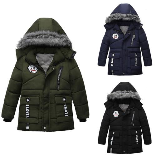 Boy's Winter Coats & Jacket Zipper Long Design