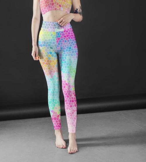 High Waist Colorful Leggings