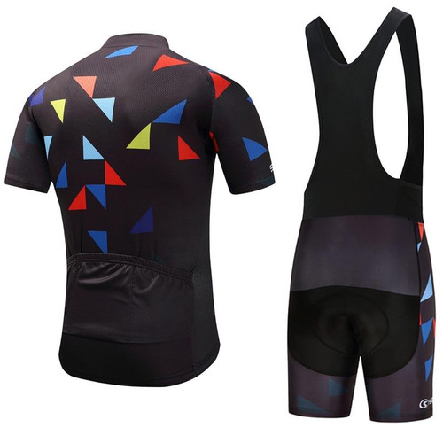 Gel pad bibs Shorts cycling wear with Jersey for Men