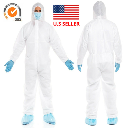Isolation Coveralls Suit with Hood (CAT III Type 5/6)