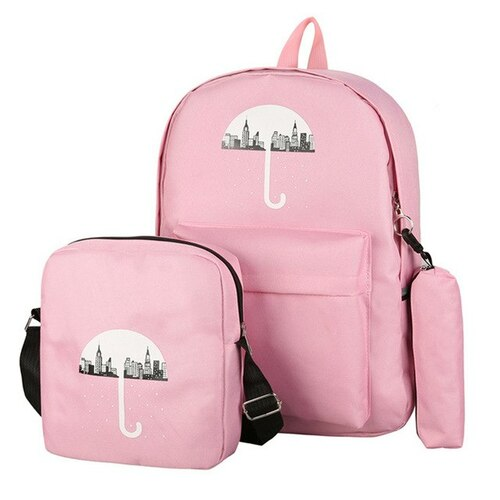 3pc Canvas Backpack Set