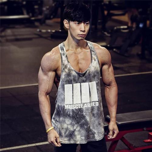 Gym Fitness Workout Singlet Sling Vest Men's Tank Top