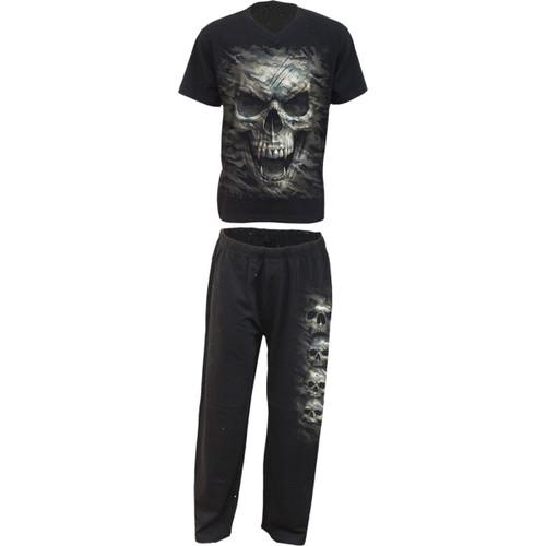 Camo Skull - 4pc Men's Gothic Pajamas Set