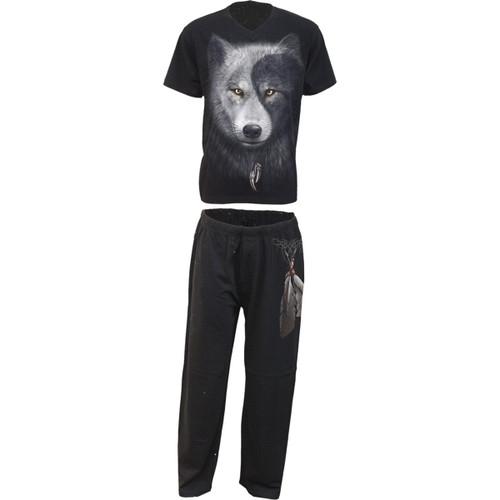 Wolf Chi - 4pc Men's Gothic Pajamas Set
