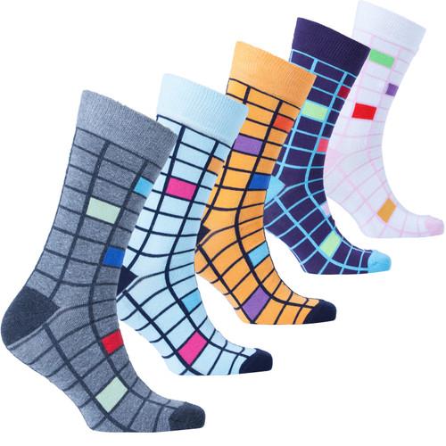 Men's Fashionable Block Socks