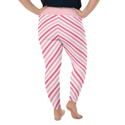 Plus Size Flattering Pink Leggings