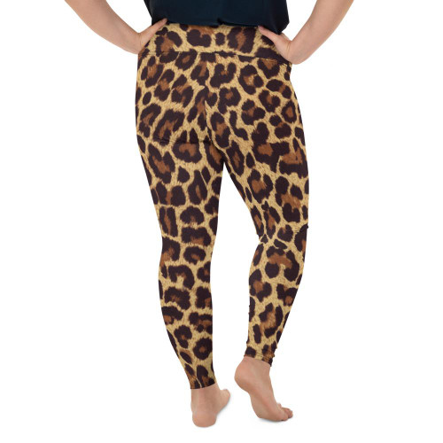 Leopard Print Plus Size Leggings