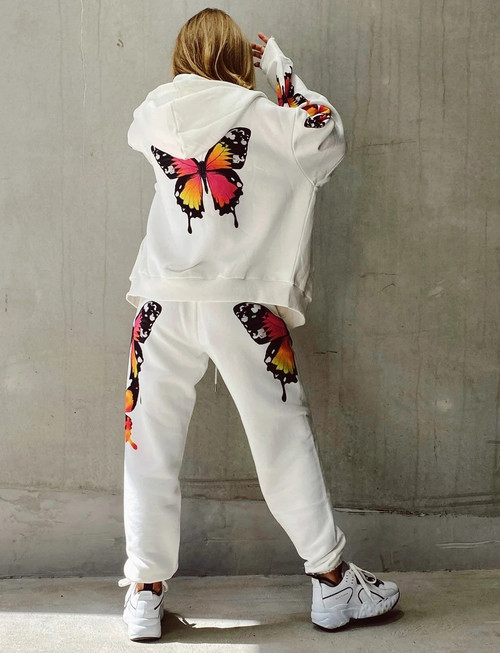 Women's Casual Hoodies Sweatshirts Coat & Pants Set