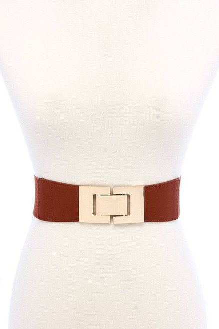 Fashion Stretchable Square Buckle Belt