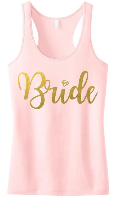 BRIDE BLUSH Tank Top Gold Foil print