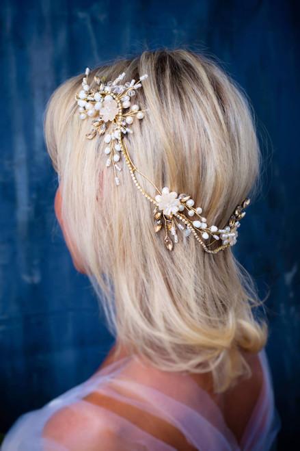 Bridal hair wreath Wedding hair comb