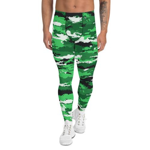Green Camo Leggings for Men