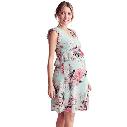 Maternity dress Fashion Pregnancy Floral Design