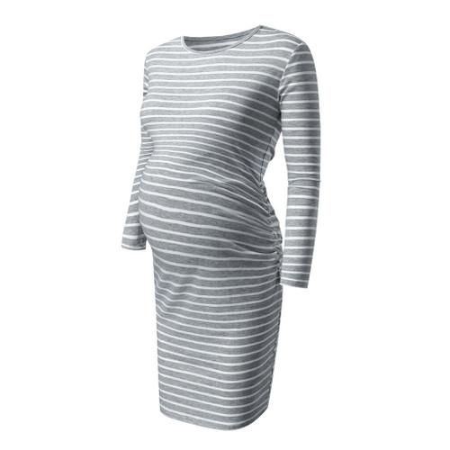 Maternity Women's Dress Pregnancy Stripe