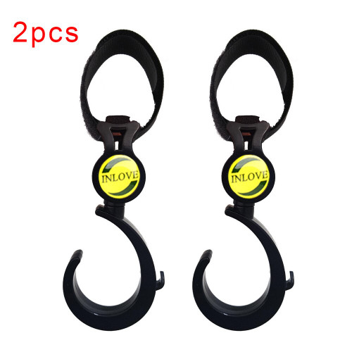 2 Pack Baby Car Carriage Black Buggy Hooks