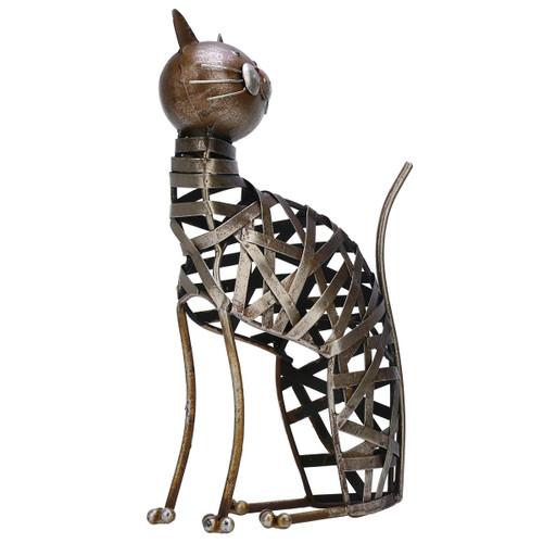 Braided Cat Sculpture Modern Iron Ornament