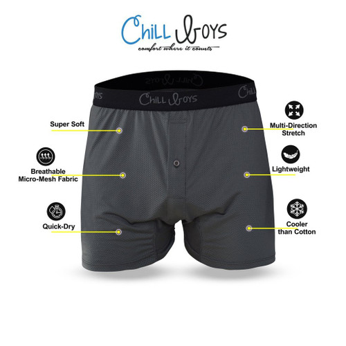 Chill Men's Performance Boxers - Cool, Soft, Breathable