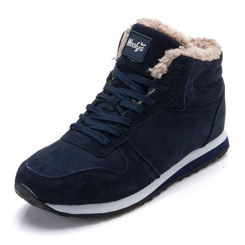 Men's Shoes Winter Warm Fur Lace Up