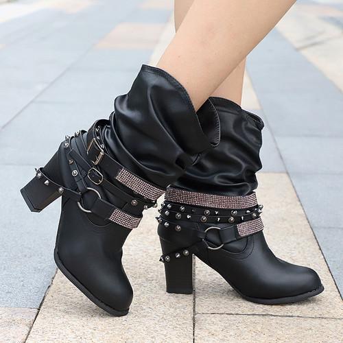 Women's Boots Fashion Plus Size Avail - Black