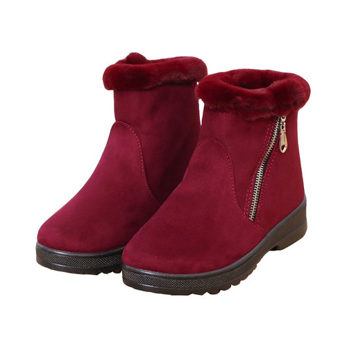 Winter High Snow Boots Wild Warm - Red