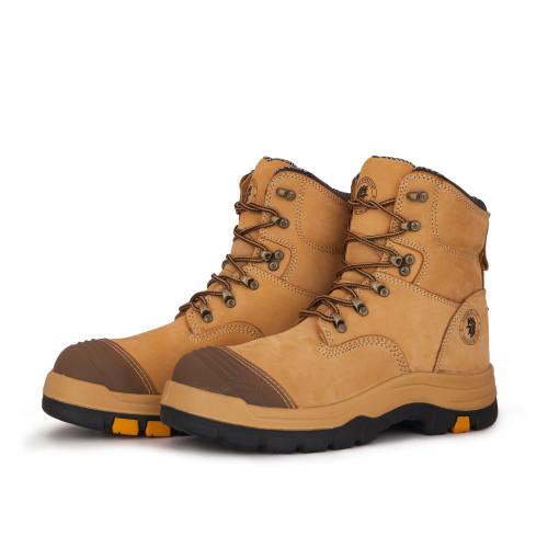 Tan 7in Steel Toe Leather Asphalt Work Boots