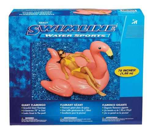Swimline Pink Vinyl Inflatable Flamingo Pool Float