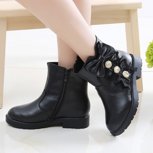 Autumn Winter New Children's Shoes Pu Leather Casual