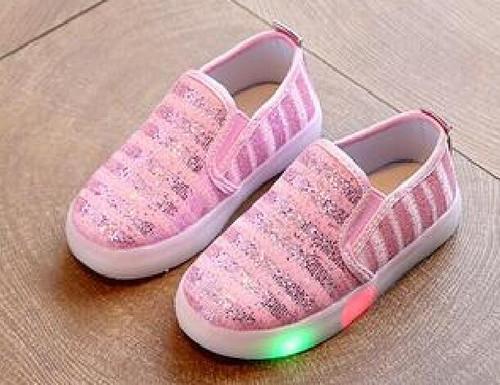 New Girl's Led Flash Luminous Shoes