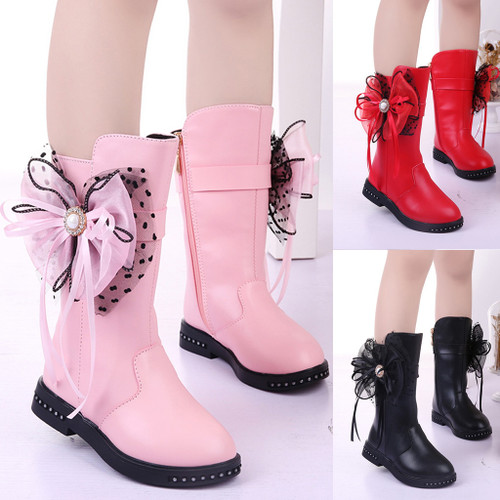Girl's Butterfly Knot Shoes Pu