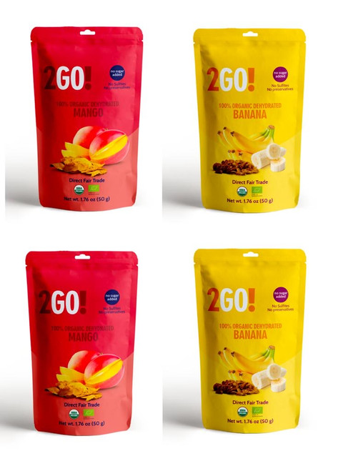 2GO! Organic Dried Fruit Variety Pack