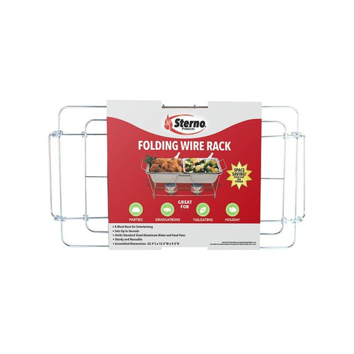 Sterno Wire Chafing Dish Rack  9-1/2 in. H x 12.13 in. W x 22.75 in.