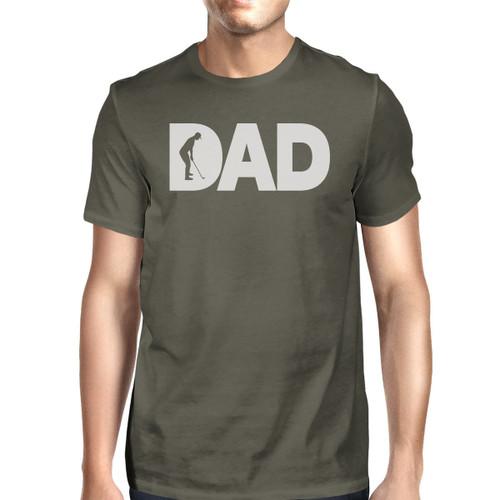 Dad Golf Men's Dark Grey Round Neck Tee