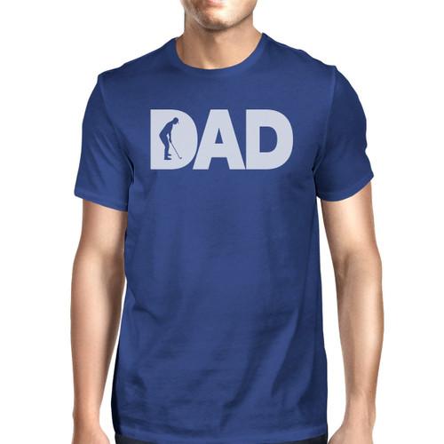 Dad Golf Men's Blue Cute Graphic Tee