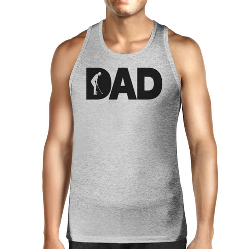 Dad Golf Men's Grey Sleeveless Tee