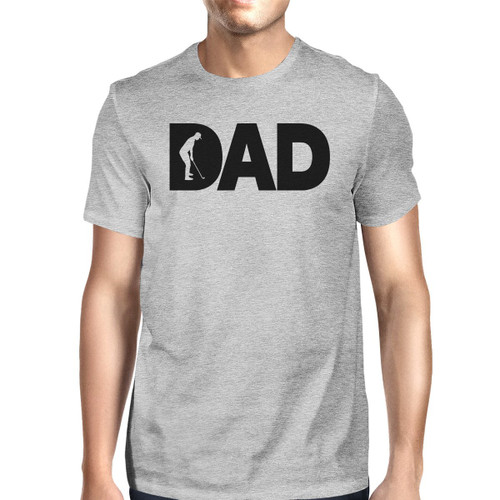 Dad Golf Men's Gray Graphic Tee Shirt