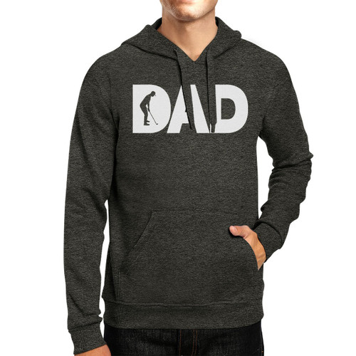 Dad Golf Gray Unisex Pullover Hoodie Fleece